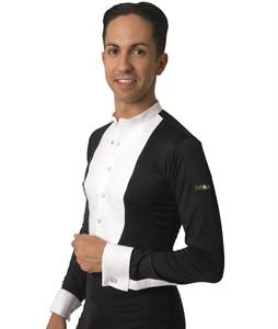 Frackhemdbody slim fit mit Druckknöpfen schwarz