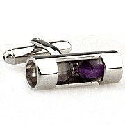 Elegante Manschettenknöpfe Sanduhr violett