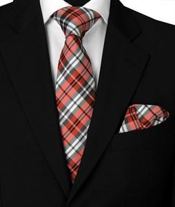 Krawatte & Einstecktuch Design 1005 rot