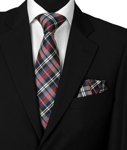 Krawatte & Einstecktuch Design 1006 blau