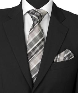 Krawatte & Einstecktuch Design 1007 schwarz