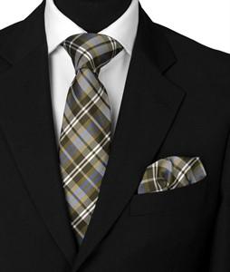 Krawatte & Einstecktuch Design 1008 grün