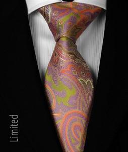 Seven Fold Krawatte violett-orange 1013