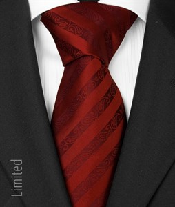 Seven fold  Krawatte bordeaux 1017