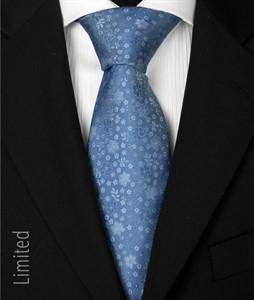 7 fold Krawatte Azur-blau 1018