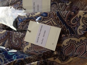 Krawatte & Einstecktuch Design 1019 Twill Fantasia