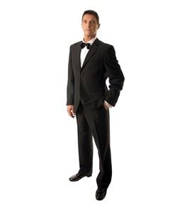 Anzug, mit Nadelstreifen-gestreift