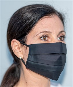 Mehrweg Mund-Nasen-Maske, schwarz, waschbar