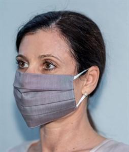 Mehrweg Mund-Nasen-Maske, bordeaux, waschbar