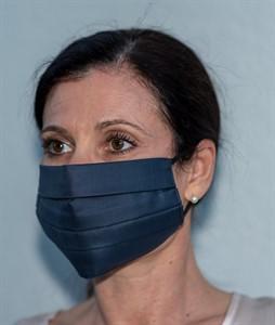 Mehrweg Mund-Nasen-Maske, navy, waschbar