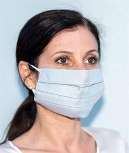 Mehrweg Mund-Nasen-Maske, hellgrau, waschbar