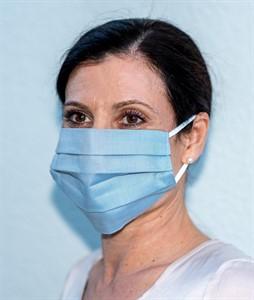 Mehrweg Mund-Nasen-Maske, hellblau, 10er Pack